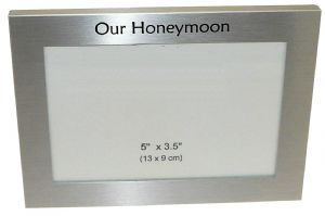 Our Honeymoon Photo Picture Frame Gift 5 x 3.5